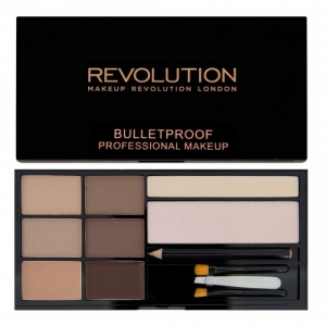 MakeUp Revolution Ultra Brow, Paleta do stylizacji brwi, Fair to Medium